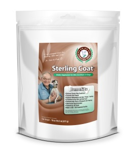 Sterling Coat by Vintek Nutrition.  For your dogs skin and coat issues.