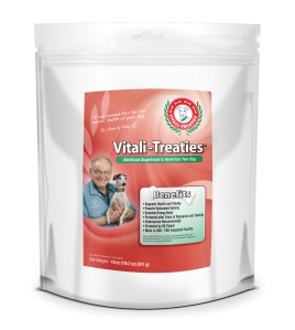 Vitali-Treaties by Vintek Nutrition.  For your dog's renewed Vitality.